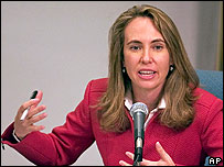 Gabrielle Giffords at an election debate with Mr Graf in Arizona