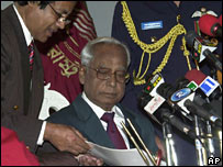 President Iajuddin Ahmed is sworn in on 29 October