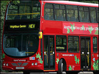 Hybrid double-decker bus