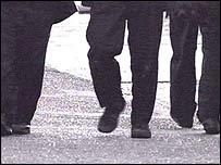 Schoolboys' legs