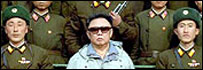 Kim Jong-Il and North Korean soldiers