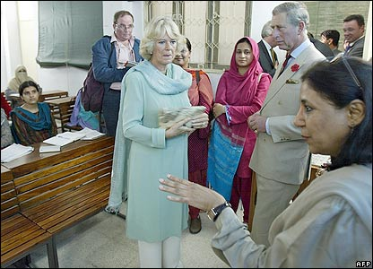Camilla, Duchess of Cornwall (left) Prince Charles