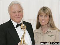 Sir David Attenborough and Terri Irwin