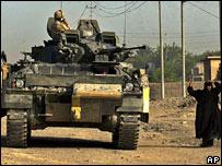 A British tank in Basra, Iraq (file image)