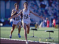 Seb Coe wins gold at the 1980 Moscow Games