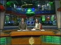 Al-Jazeera's newsroom