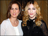 Kirsty Wark with Madonna