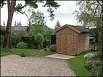 The garden where Mr Chubb died