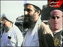Video of Osama Bin Laden broadcast on al-Jazeera