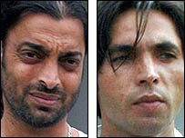 Shoaib Akhtar and Mohammad Asif