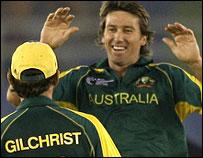McGrath celebrates
