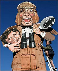 Bonfire effigy of John McCririck