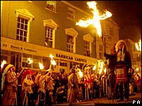 Lewes bonfire societies procession