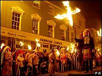 Lewes bonfire societies procession