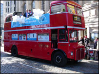NHS Together campaign bus