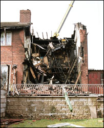 The house after the fire