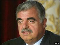 Former Lebanese Prime Minister Rafik Hariri