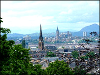 View over Glasgow