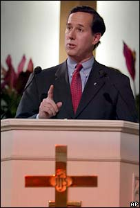 Rick Santorum speaks at the religiously-organised Justice Sunday event