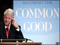Bill Clinton speaking at Georgetown University in October 2006