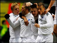 FC Copenhagen celebrate their winner