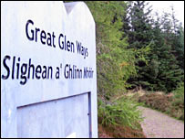 Great Glen Ways sign
