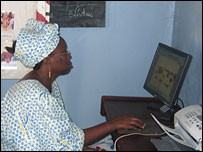 Yayi Bayam Diouf in her office