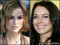 Keira Knightley and Lindsay Lohan