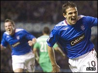Nacho Novo celebrates opening the scoring