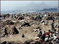 Campo de refugiados en Ruanda en 1994.