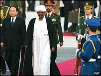 Sudanese President Omar al-Bashir arrives in Beijing