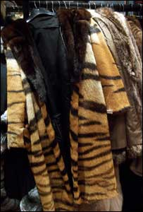 The fur coats recovered in the raid