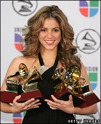 shakira awards demeanor