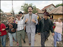 Scene from the Borat movie