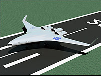 Artist's impression of the SAX-40 plane on the runway (Image: SAI)