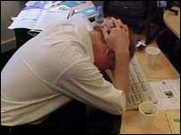 Стресс у сотрудника офиса