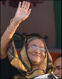Sheik Hasina Wajid at Nov 3, 2006 rally in Dhaka