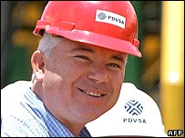 Rafael Ramirez, head of PDVSA and energy minister (file photo)