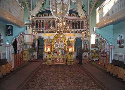 Interior of Ukraine Orthodox church