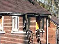 Scene of fire in Kitchen Road, Wombwell
