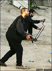 Palestinian militants in Beit Hanoun