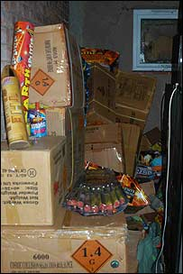 Some of the fireworks - image courtesy Gloucestershire Constabulary