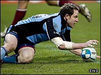 Graeme Morrison was a try-scorer for Glasgow