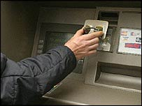 ATM card skimming device