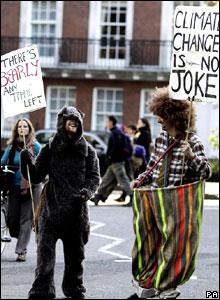 Men dressed in costume