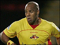 Marlon King in action for Watford