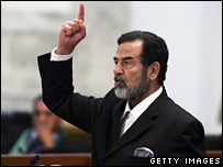 Saddam shouts defiance as verdict is given