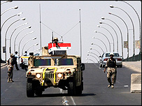 Iraq road block