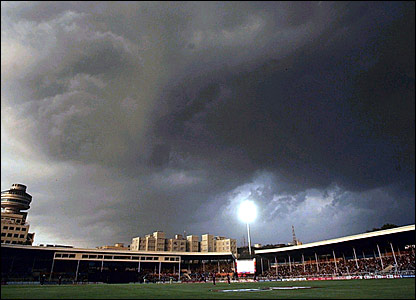Storm clouds gather over The Brabourne Stadium