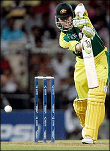 Damien Martyn resumes his innings